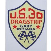 Adesivo modelo U.S.30 Dragstrip - Gary Indiana