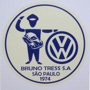 Adesivo modelo VW Concessionária Bruno Tress S.A São Paulo 1974
