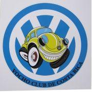 Adesivo modelo VW Fusca - Vocho Club de Costa Rica