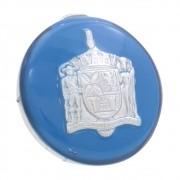 Botão de buzina na cor azul para volante VW Fusca, Karmann Ghia, Variant, TL e TC