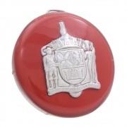 Botão de buzina na cor vermelha para volante VW Fusca, Karmann Ghia, Variant, TL e TC