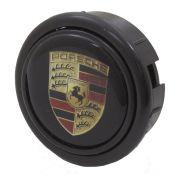 Botão de buzina para volante esportivo com logo Porsche