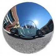Calota Cromada VW Fusca até 1970 Kombi até 1975 Karmann Ghia Modelo Roda 5 furos - Marca Enfeite Car
