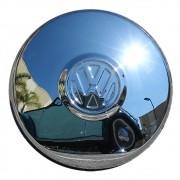 Calota Cromada VW Fusca Kombi Clipper Zé do Caixão Variant Tl Modelo Roda 4 furos- Marca Enfeite Car