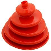 Coifa guarda pó adaptação em silicone vermelho da alavanca de cambio Clark para GM C-10 e Toyota Bandeirante