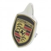 Emblema Brasão Capô VW Fusca até 1966 Modelo Porsche Fundo Preto