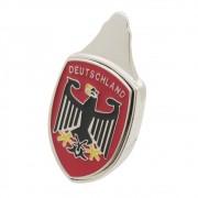 Emblema Brasão do Capô Deutschland Vermelho VW Fusca até 1966