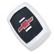 Emblema brasão do capô modelo fundo preto logo vermelho para GM Chevrolet Opala 1969 à 1970