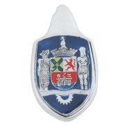 Emblema Brasão do capô modelo Paulistarum Terra Mater para VW Fusca até 1966