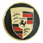 Emblema calota centro de roda para Porsche