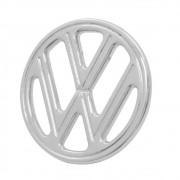 Emblema Cromado Brasão VW Dianteiro VW Fusca 1959 à 1977 Brasília 1973 à 1977 Variant Tl 1970 à 1976 SP-2 Zé do Caixão