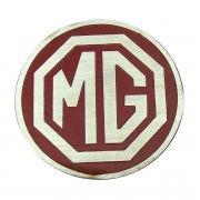 Emblema do botão de buzina MG fundo vermelho
