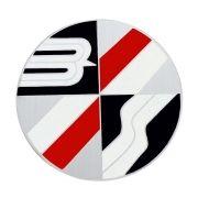 Emblema do botão de buzina para Bianco com fundo Prata