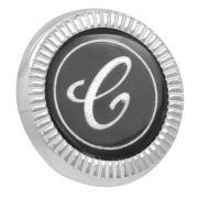 Emblema escudo ´C´ do teto de vinil para GM Opala Comodoro
