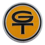 Emblema GT amarelo do volante Walrod para Ford Corcel e Maverick