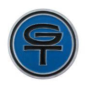 Emblema GT azul do volante Walrod para Ford Corcel e Maverick