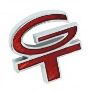 Emblema GT do teto de vinil e grade na cor vermelha para Ford Corcel