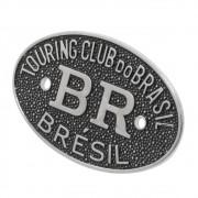 Emblema Plaqueta Brasão Preto BR Touring Brésil Carros Antigos Coleção