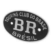 Emblema Plaqueta Brasão Preto BR Touring Brésil VW Fusca Brasília Karmann Ghia Kombi Variant TL TC MP Lafer