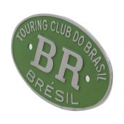 Emblema Plaqueta Brasão Verde BR Touring Brésil