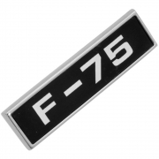 Emblema Plaqueta Paralama Lateral Ford Willys F-75