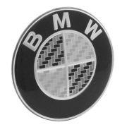 Emblema resinado modelo BMW com 65 mm para calotas
