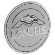 Emblema resinado modelo Mangels com 55 mm para calotas
