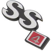 Emblema SS4 Capô Dianteiro GM Opala SS 4 Cilindros 1973 à 1974
