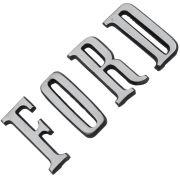 Emblema traseiro modelo letras Ford Landau e Maverick