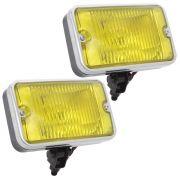 Farol auxiliar milha com lente amarela para Ford Maverick GT GM Opala SS Dodge