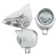 Farol auxiliar milha com pestana e lente cristal para VW Fusca Gordini Karmann Ghia