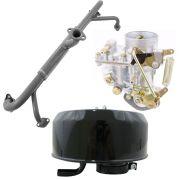 Kit Carburador 30 PIC Novo + Coletor de admissão VW Fusca 1300 + Filtro ar