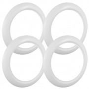 Jogo com 4 bandas faixas brancas largas para pneu aro 15
