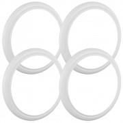 Jogo com 4 bandas faixas brancas para pneu aro 14