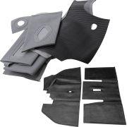 Jogo, Forração passadeira, carrapatinho cinza sem ar quente + Tapete inteiriço para VW Fusca
