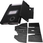 Jogo, Forração passadeira de assoalho em carpete preta + Tapete inteiriço preto original fusca