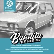 Jogo Forração Porta Dianteira Lateral Traseira Cor Marrom VW Brasilia após 1978