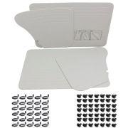 Kit Forração Premium porta e lateral cor gelo Fusca até 1977 + Kit de chupetas e grampos