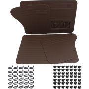 Kit Forração Premium porta e lateral marrom Fusca até 1977 Kit de chupetas e grampos