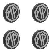 Kit com 4 Calota centro de roda com emblema para MP Lafer