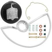 Kit com aro do volante, botão buzina e reparo de contato para VW Fusca até 1973