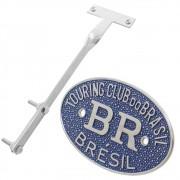 Kit Emblema Plaqueta Brasão Azul BR Touring Brésil VW Fusca até 1970