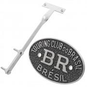 Kit Emblema Plaqueta Brasão Preto BR Touring Brésil VW Fusca até 1970