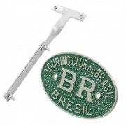 Kit Emblema Plaqueta Brasão Verde BR Touring Brésil Suporte VW Fusca após 1970