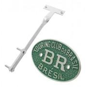 Kit Emblema Plaqueta Brasão Verde BR Touring Brésil VW Fusca até 1970