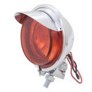 Lanterna auxiliar luz de freio modelo cromado com pestana