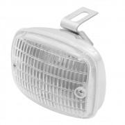 Lanterna Universal Cromada Luz Ré Auxiliar Milha Carro Antigo Fusca Brasilia Variant Kombi SP2 Veraneio