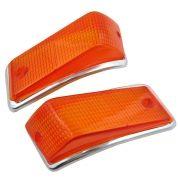 Lente Ambar e Aro da lanterna de pisca para VW Variant, TL e Zé do Caixão
