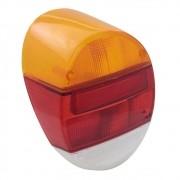 Lente da lanterna traseira mod. acrílica tricolor para VW Fusca 1976 à 1996
