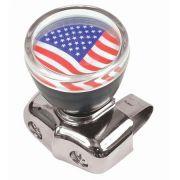 Manopla giratória com logo bandeira EUA para volante de carro antigo